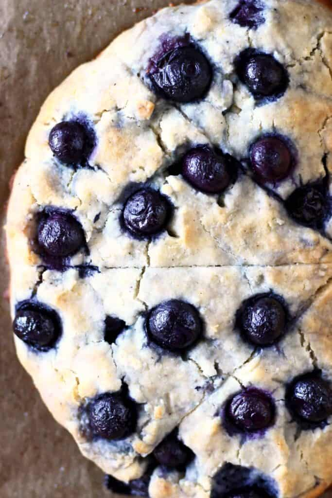 Gluten-Free Vegan Lemon Blueberry Scones