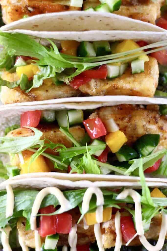 Vegan Tofu Fish Tacos (GF)