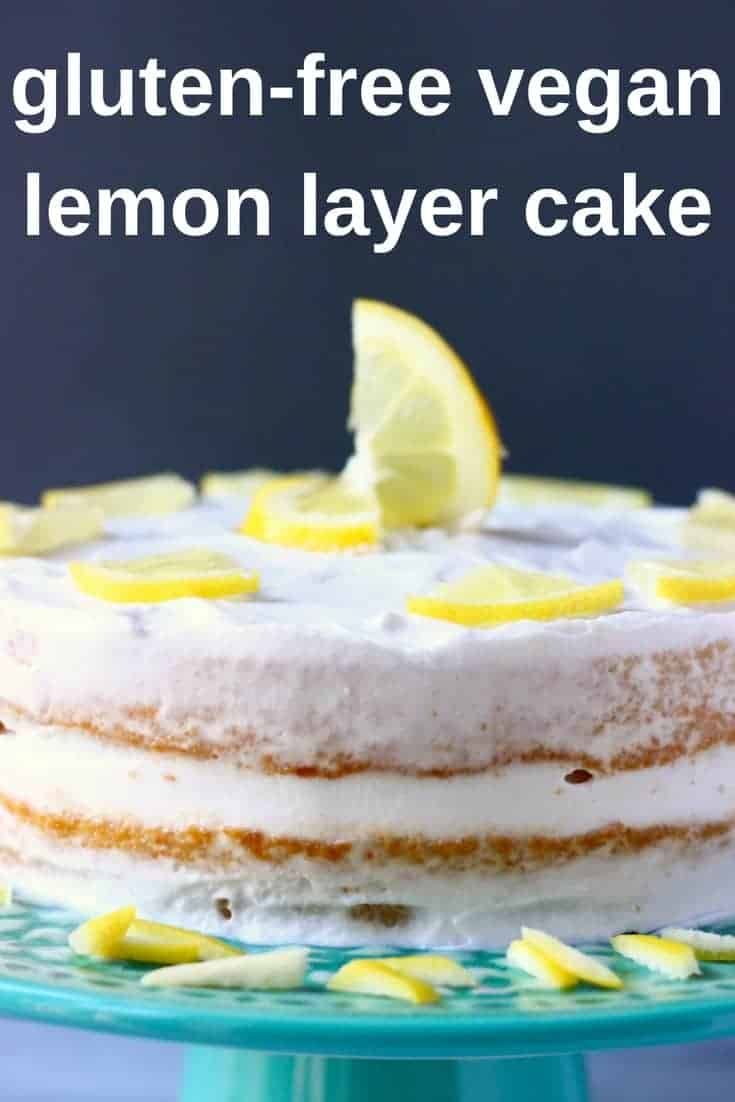 This Gluten-Free Vegan Lemon Layer Cake is moist and fluffy, sweet and tangy, and simple yet elegant! A moist and fluffy lemon sponge cake with a