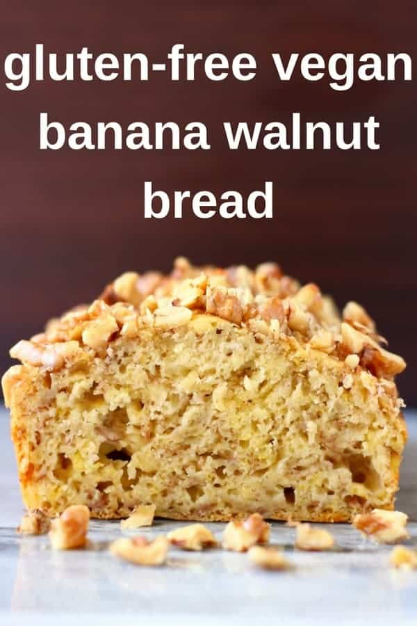 This Gluten-Free Vegan Banana Walnut Bread is seriously moist, toasty and fragrant and completely free from added sugar! #vegan #dairyfree #glutenfree #banana #sugarfree