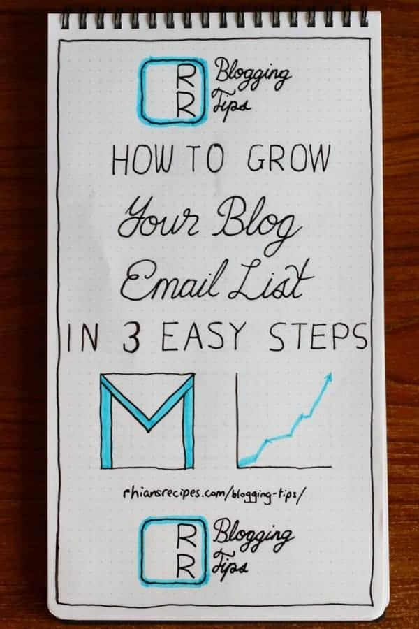 3 Easy Steps to Grow Your Blog Email List