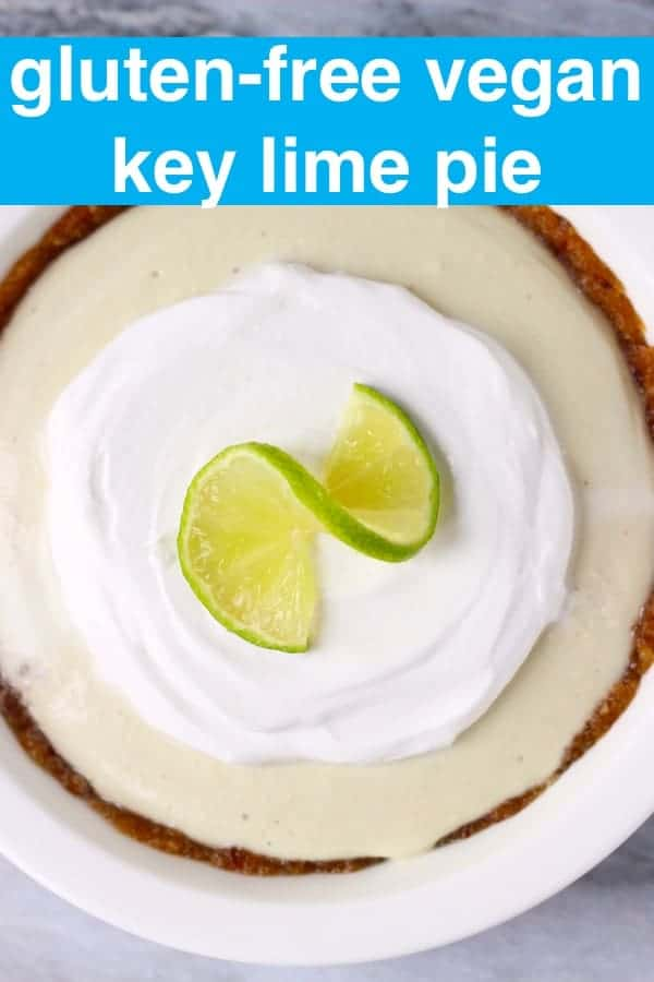This no-bake Vegan Key Lime Pie is sweet and tangy, rich and creamy, and gluten-free and refined sugar free! Also grain-free, paleo and oil-free. #vegan #glutenfree #paleo #dairyfree #dessert #oilfree