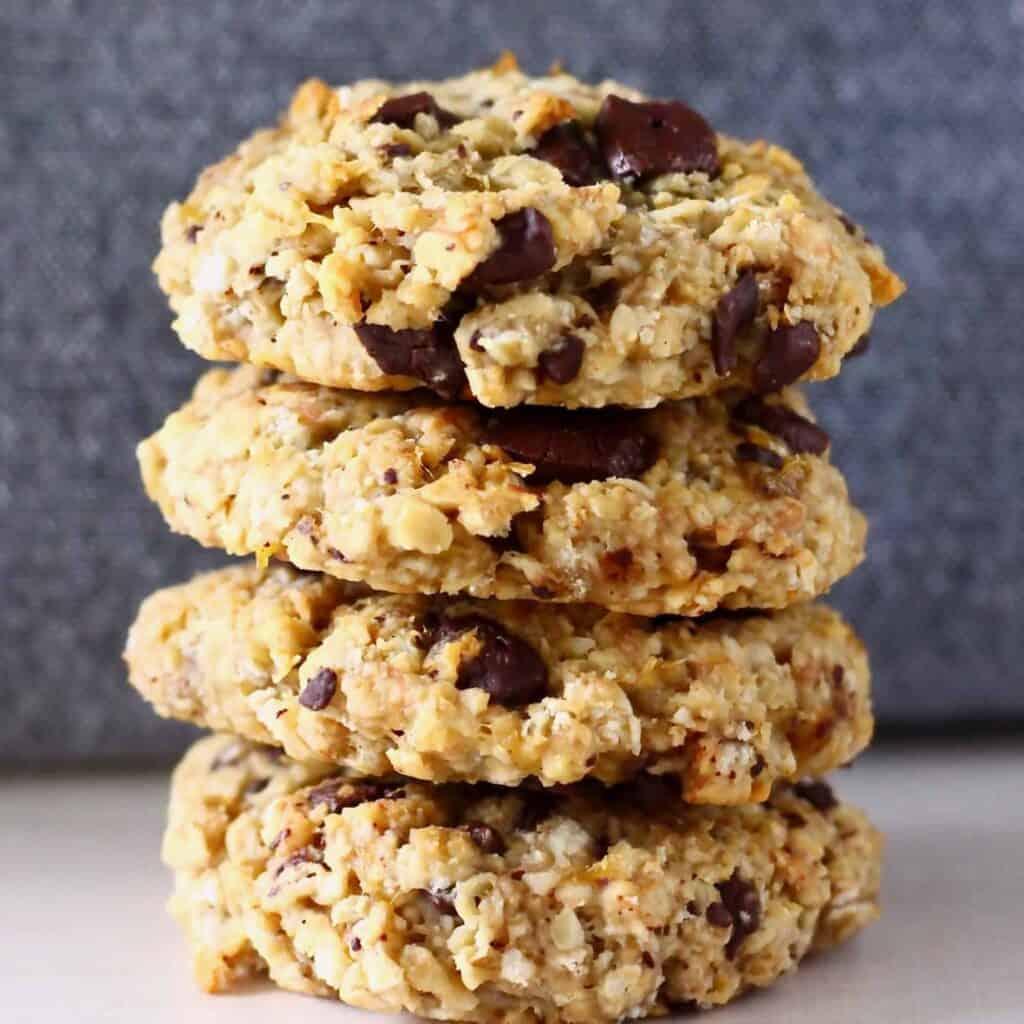 Gluten-Free Vegan Banana Oatmeal Cookies