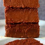 A collage of two sweet potato brownies photos