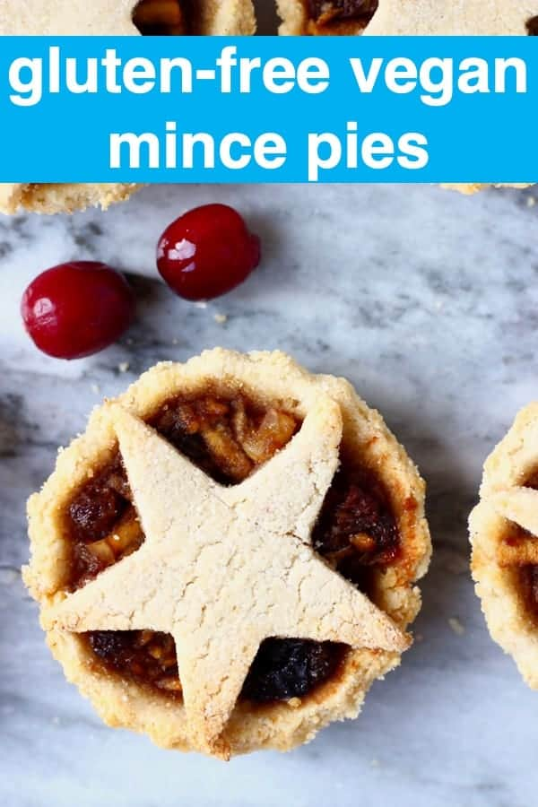 TheseGluten-Free Vegan Mince Pies are crispy, flaky,fruityand fragrant- the best festive sweet treat for Christmas!Dairy-free, vegetarian, egg-free and refined sugar free. #rhiansrecipes #christmas #mincepies #vegan #dairyfree #glutenfree #dessert