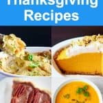 Collage of vegan Thanksgiving recipes photos