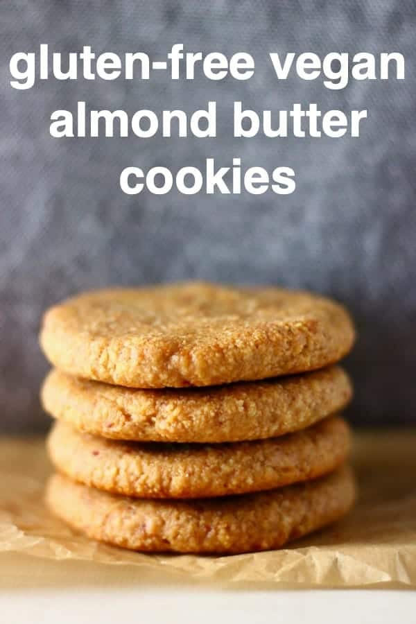 TheseAlmond Butter Cookies aresoftandfudgy, perfectlychewyand supereasyto make! They make the besthealthier sweet treat! Vegan, gluten-free, dairy-free, refined sugar free, egg-free, grain-free, oil-free and paleo-friendly. #rhiansrecipes #vegan #cookie #christmas #dairyfree #paleo #glutenfree #almondbutter