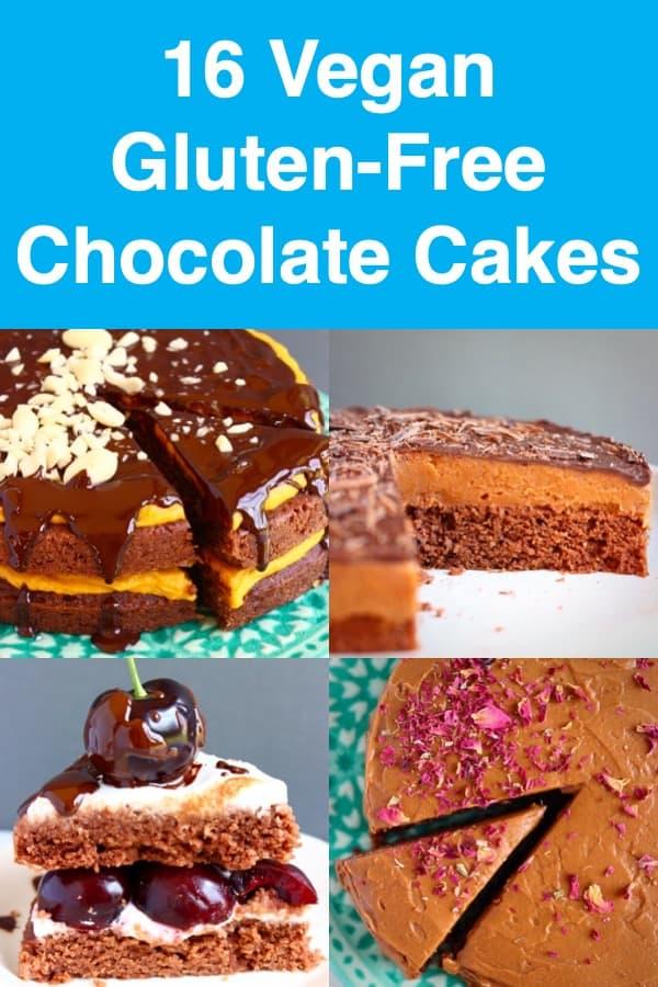 16 Vegan Chocolate Cake Recipes: perfect forbirthdays,Christmas,Easter,Valentine's Dayor just everyday! All dairy-free, egg-free, refined sugar free and gluten-free. #rhiansrecipes #vegan #glutenfree #dairyfree #chocolatecake #birthday #christmas #easter