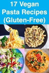 Collage of four pasta photos