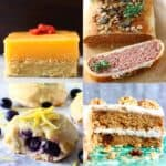 A collage of four vegan Easter recipes photos