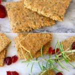 A collage of two Gluten-Free Vegan Crackers photos