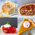 A collage of vegan pie recipes