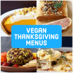 Collage of four Thanksgiving dishes