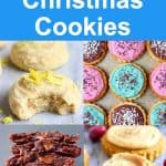 A collage of four Gluten-Free Vegan Christmas Cookies photos