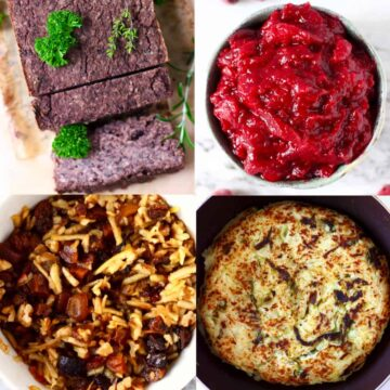 A collage of four Vegan Christmas Leftovers Ideas photos