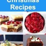 A collage of four Vegan Christmas Recipes photos