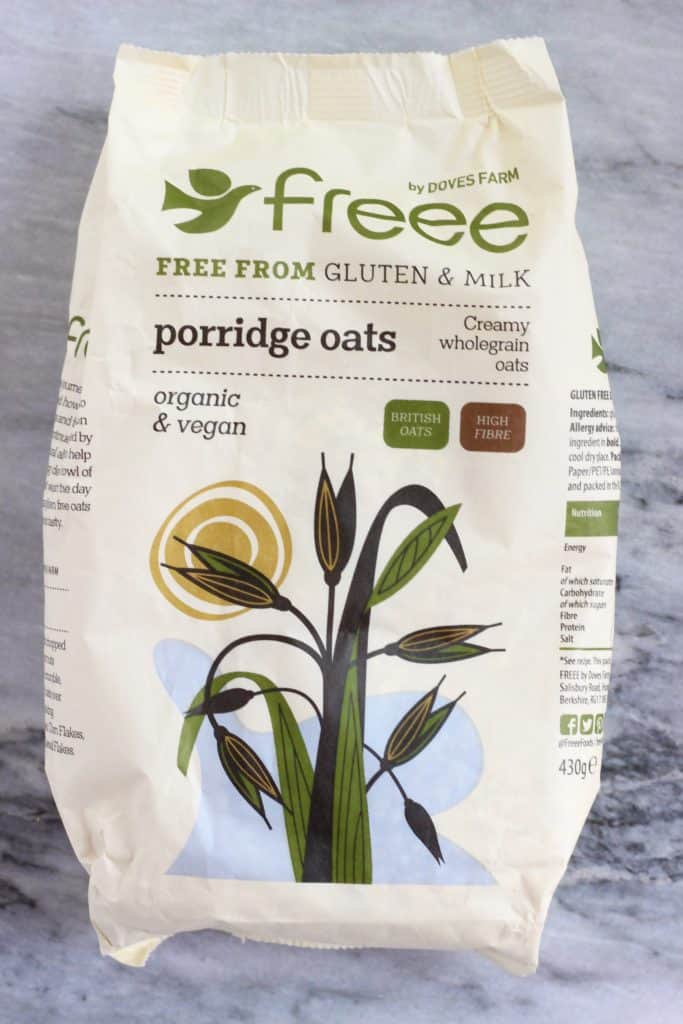 A packet of porridge oats