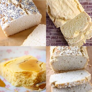 Collage of gluten-free vegan bread recipes
