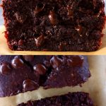 A collage of two Gluten-Free Vegan Chocolate Banana Bread photos