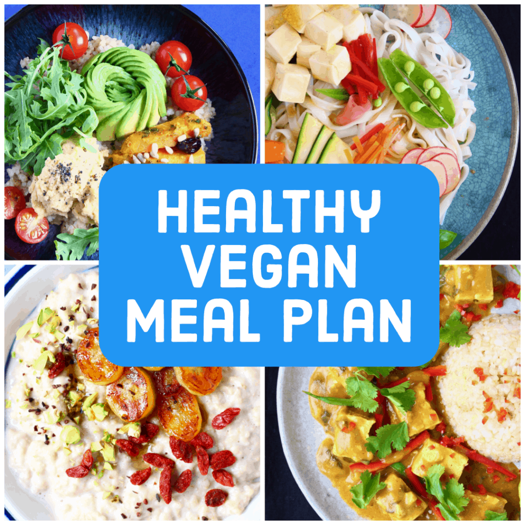 images from healthy vegan meal plan ebook
