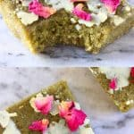 A collage of two Gluten-Free Vegan Matcha Brownies photos