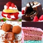 A collage of four Vegan Valentine's Day Recipes photos
