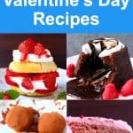 Collage of four Valentine's Day recipes