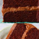 A collage of two Gluten-Free Vegan Chocolate Cake photos