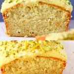 Collage of vegan orange bread photos