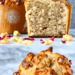 A collage of gluten-free vegan banana muffins photos