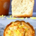 A collage of two gluten-free vegan lemon muffins photos