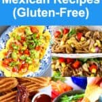 A collage of four vegan Mexican recipes photos