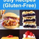 A collage of four Vegan 4th of July Recipes
