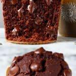 A collage of two gluten-free vegan chocolate pumpkin muffins photos