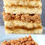 A collage of two vegan coffee cake photos